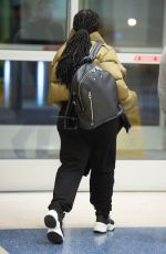 Janet Jackson Making a solo arrival at JFK airport in New York