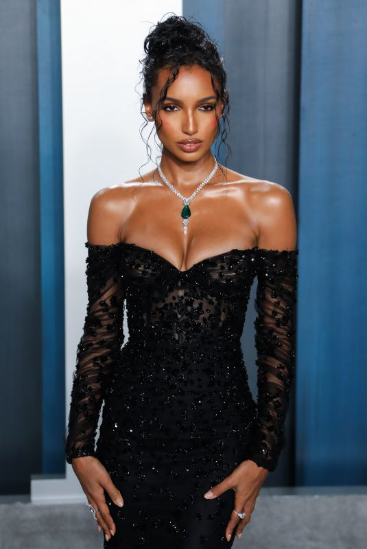 Jasmine Tookes Attends the 2020 Vanity Fair Oscar Party in Beverly Hills