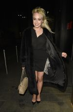Jazmine Franks and Jorgie Porter out celebrating Jazz Birthday at BLVD in Manchester