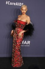 Jazzelle Zanaughtti At 22nd annual amfAR Gala Benefit for AIDS Research at Cipriani Wall Street in New York City