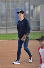 Jennifer Garner Playing ball with her son in LA