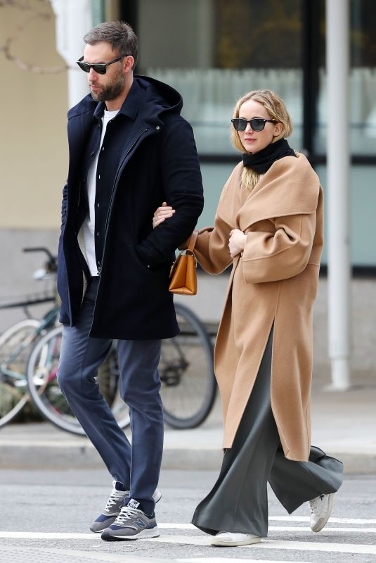 Jennifer Lawrence and Cooke Maroney are Spotted on a Romantic Arm-in-Arm Stroll in New York City