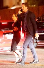 Jennifer Meyer On the arm of a mystery man while leaving a Pre-Oscar Party