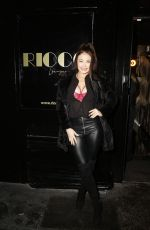 Jess Impiazzi Spotted arriving at the Ricco Lounge and Club launch party in London