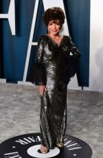 Joan Collins At Vanity Fair Oscar Party, Arrivals, Los Angeles