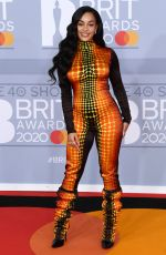 Jorja Smith At 40th Brit Awards, Arrivals, The O2 Arena, London