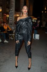 Jourdan Dunn Rocks a leather fit while attending the Isabel Marant show during Paris Fashion Week
