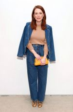 Julianne Moore At Tory Burch Fall Winter 2020 Fashion Show at Sotheby