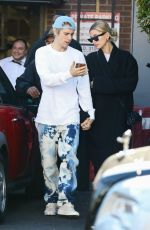 Justin Bieber & Hailey Bieber Are seen out for lunch in Beverly Hills