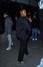 Justine Skye Poses for the cameras as she attends the Palm Angels fashion show in New York City