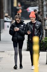 Kaia Gerber and Tommy Dorfman enjoy a walk after hitting the gym