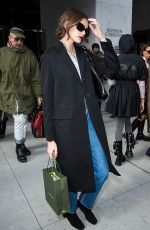 Kaia Gerber Arriving at the Longchamp Fashion Show in NYC