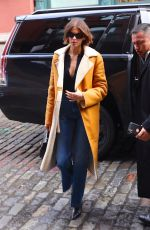 Kaia Gerber Leaves the Coach fashion show during NYFW in New York