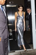 Kaia Gerber Out in a silvery dress in NYC