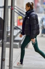 Kaia Gerber Returns home after a yoga session at Alo Yoga Sanctuary in NYC