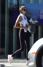 Kaia Gerber Seen as she leaves the gym after a workout in West Hollywood