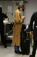 Kaia Gerber Spotted leaving from Milan airport after Milan Fashion Week