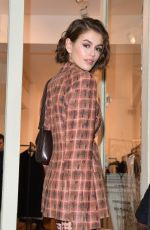 Kaia Gerber Takes part to a signature event at the boutique Kiko Kostadinov during Paris Fashion Week