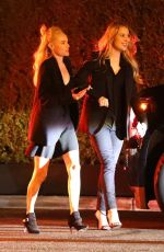 Kate Bosworth Leaving a Pre Oscar party with a friend at the Vicente Bungalows