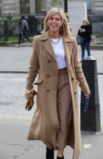 Kate Garraway Pictured in beige and bling chain after her Smooth radio show - London