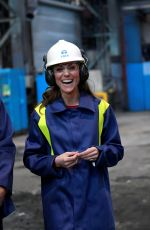 Kate Middleton, Duchess of Cambridge during a visit to Tata Steel in Port Talbot Wales