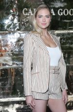 Kate Upton At Cocktails & Conversation about impact climate change has on the future of polar bears in LA