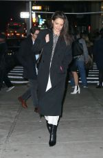Katie Holmes Heads to a Manhattan office building on chilly Monday night in New York City