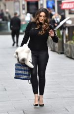 Kelly Brook Leaving the Global Studios after the Heart Radio Breakfast show in London