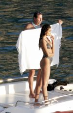 Kelly Gale Shows off her flawless physique while shooting in Saint Barthelemy, France