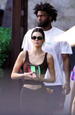 Kendall Jenner Heading to a pool in Miami