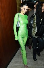 Kendall Jenner Leads stars out at the Sony Brit Awards After Party held at the Standard Hotel in London