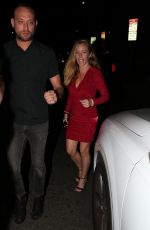 Kendra Wilkinson Looks sizzling hot in red leaving Warwick in Hollywood