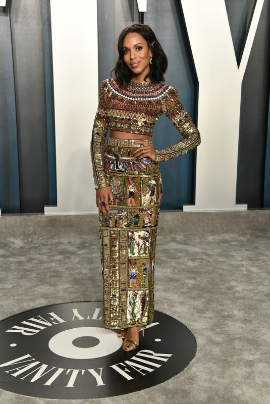 Kerry Washington At 2020 Vanity Fair Oscar Party in Beverly Hills