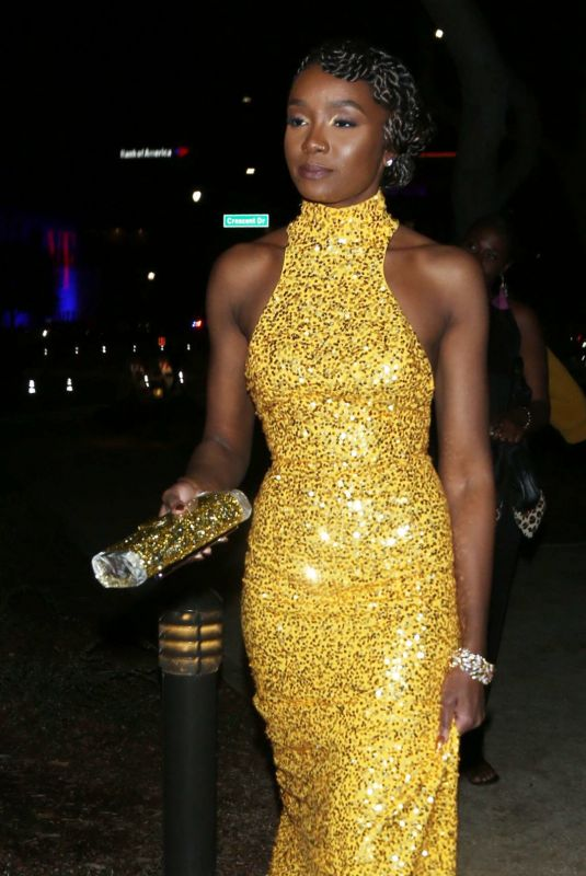 Kiki Layne Coming 2 America Shows Off Her Killer Frame In A Shimmery Yellow Dress