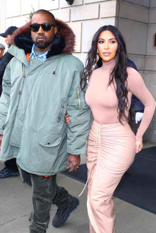 Kim Kardashian Leaves her hotel and heads to the SKIMS launch event at Nordstrom in New York