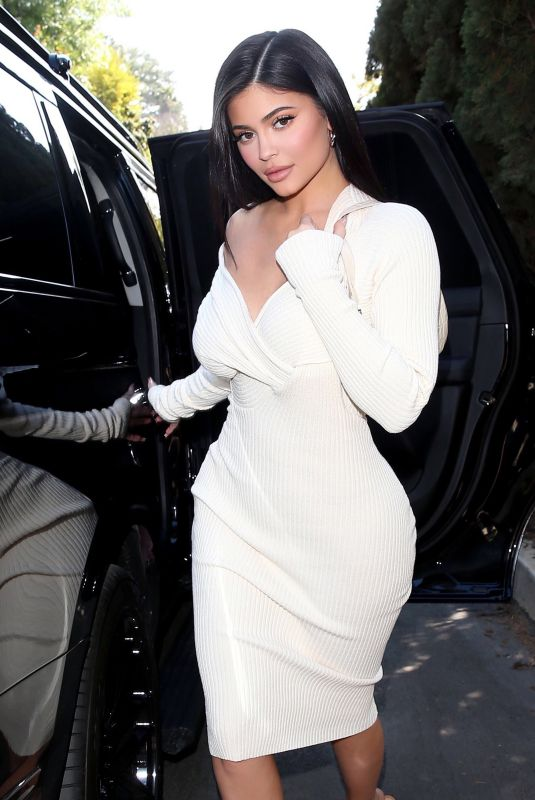 Kylie Jenner Heads To A Friends Baby Shower At The Waldorf Astoria Hotel In Beverly Hills