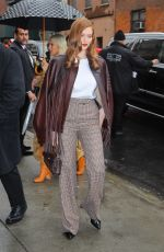 Larsen Thompson Arriving at the Coach Fashion Show in NYC