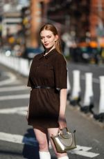 Larsen Thompson Arriving at the Longchamp Fashion Show in New York