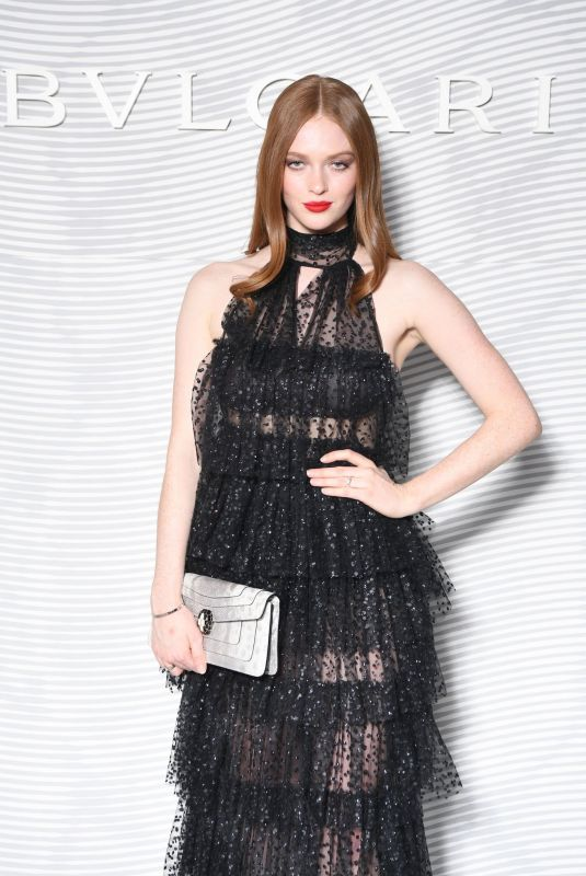 Larsen Thompson At Bulgari Fashion Show at Milan Fashion Week