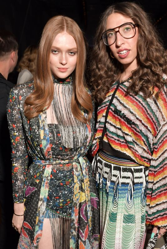 Larsen Thompson At Missoni show, Fall Winter 2020, Milan Fashion Week, Italy