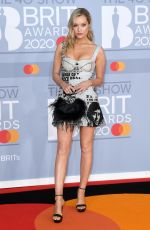 Laura Whitmore Arriving at the Brit Awards 2020 held at the O2 Arena, London