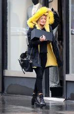 Laura Whitmore Leaving the BBC studios in London