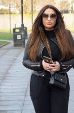 Lauren Goodger Leaves the Scissor Longue in Romford