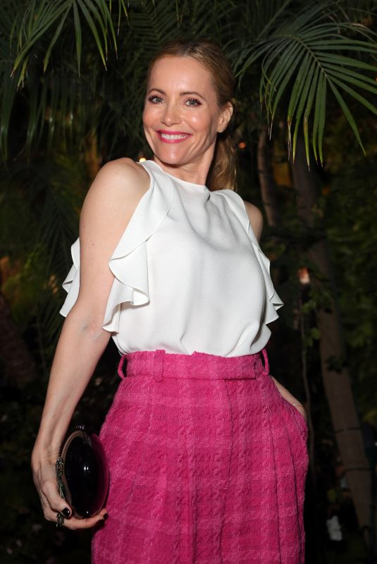 Leslie Mann At Charles Finch and Chanel Pre-Oscar Awards Dinner in Los Angeles