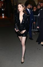 Lily Collins Leaving her hotel in Paris