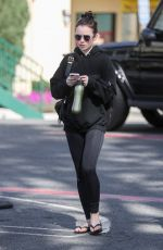 Lily Collins Leaving Pilates in West Hollywood