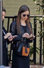 Lily Collins Out in West Hollywood