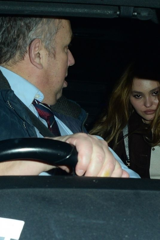 Lily-Rose Depp At 40th Brit Awards, After party, London