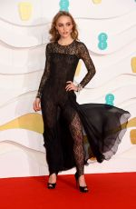 Lily-Rose Depp At EE British Academy Film Awards at Royal Albert Hall in London