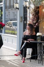 """Lizzie Cundy Seen at her favourite shoe shop, """"Lucy Choi"""" in London"""